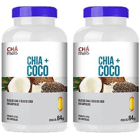 Chia + Coco - 2 unidades de 60 Cápsulas - Clinic Mais
