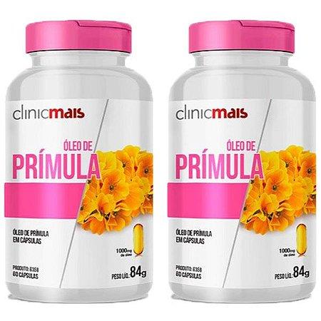 Óleo de Prímula - 2 unidades de 60 Cápsulas - Clinic Mais
