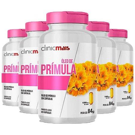 Óleo de Prímula - 5 unidades de 60 Cápsulas - Clinic Mais