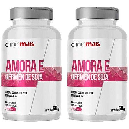Kit Amora e Gérmen De Soja ClinicMais 600mg 200 Cápsulas