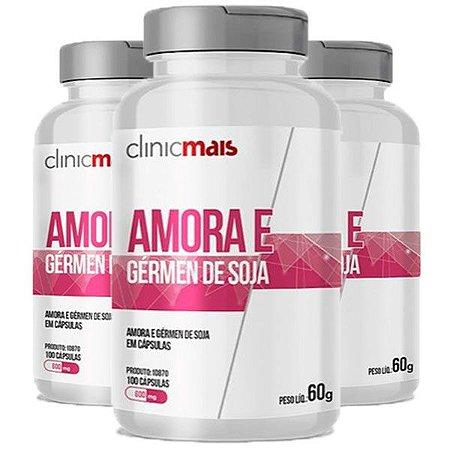 Kit Amora e Gérmen De Soja ClinicMais 600mg 300 Cápsulas