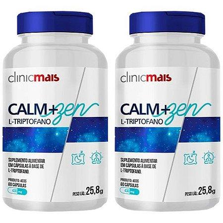 Kit L-Triptofano Calm+Zen Suplemento ClinicMais 120 Cáps