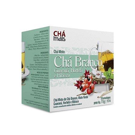 Chá Misto De Chá Branco Com Guaraná Hortelã Chá Mais 10 Env