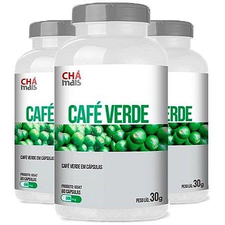 Kit Café Verde Em Cápsulas ClinicMais Emagrecedor 180 Cáps