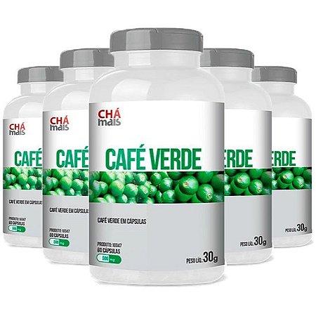 Café Verde - 5 unidades de 60 Cápsulas - Clinic Mais