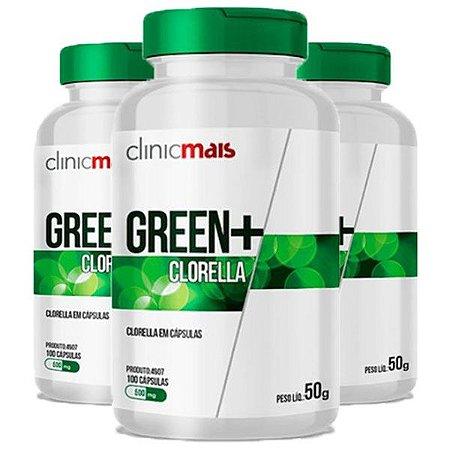 Green+ Clorella - 3 unidades de 100 Cápsulas - Clinic Mais
