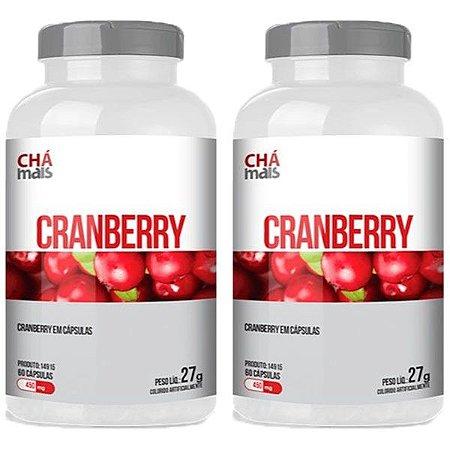 Kit Cranberry ClinicMais 450mg Suplemento 120 Cápsulas