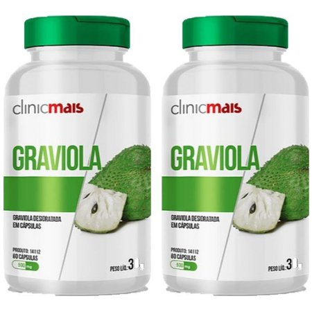 Graviola - 2 unidades de 60 Cápsulas - Clinic Mais