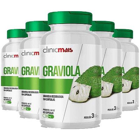 Graviola - 5 unidades de 60 Cápsulas - Clinic Mais