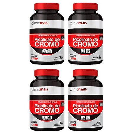 Picolinato de Cromo - 4 unidades de 60 Cápsulas - Clinic Mais