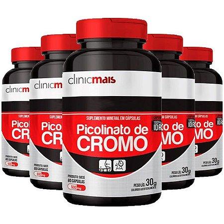 Picolinato de Cromo - 5 unidades de 60 Cápsulas - Clinic Mais