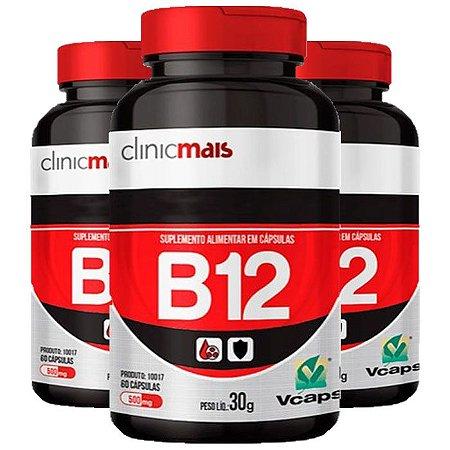Vitamina B12 - 3 unidades 60 Cápsulas - Clinic Mais