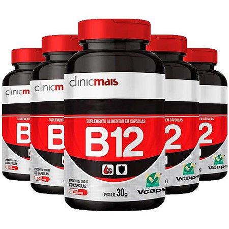 Vitamina B12 - 5 unidades de 60 Cápsulas - Clinic Mais