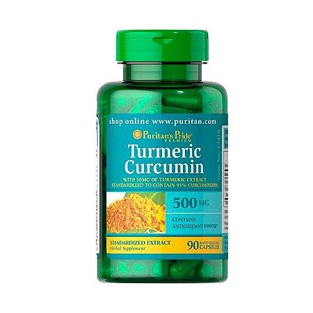 Turmeric Curcumin 500mg - 90 Cápsulas - Puritan's Pride