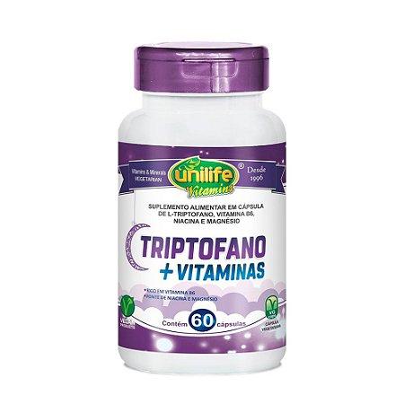 Triptofano Com Vitaminas Unilife Suplemento 60 Cápsulas