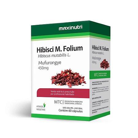 Hibisco (Hibiscus mutabilis L.) - 60 Cápsulas - Maxinutri