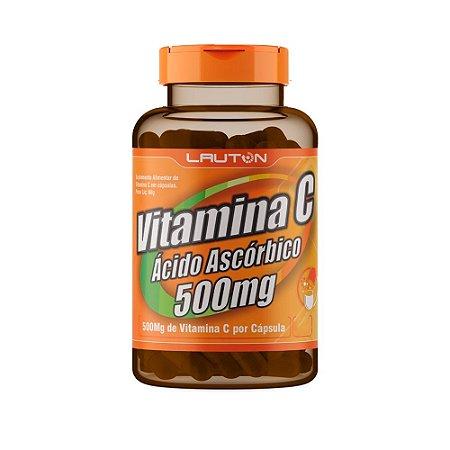 Vitamina C Ácido Ascórbico 500mg Lauton 120 Cápsulas