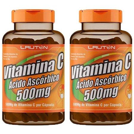 Vitamina C 500mg - 2 unidades de 60 Cápsulas - Lauton