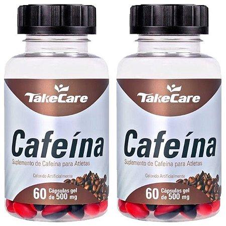 Kit Cafeína Em Cápsulas Take Care Suplemento 500mg 120 Cáps