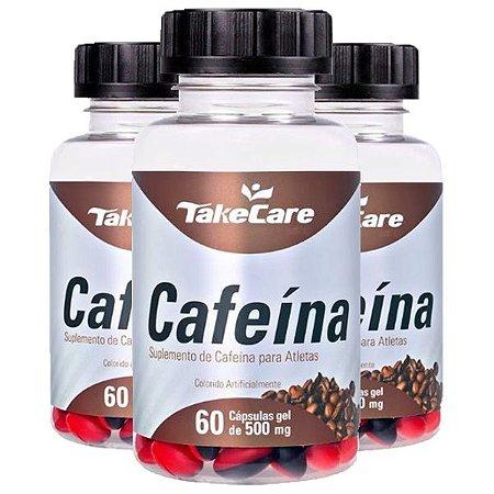Cafeína - 3 unidades de 60 Cápsulas - Take Care