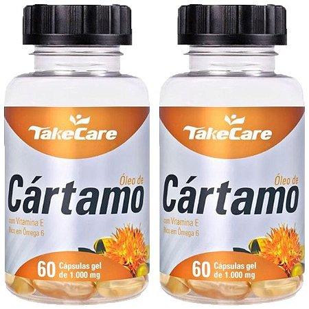 Óleo de Cártamo com Vitamina E - 2 unidades de 60 Cápsulas - Take Care