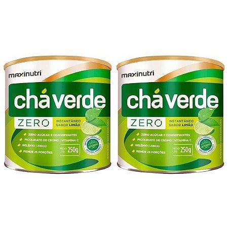 Kit Chá Verde Solúvel Limão Zero Maxinutri 500 gramas
