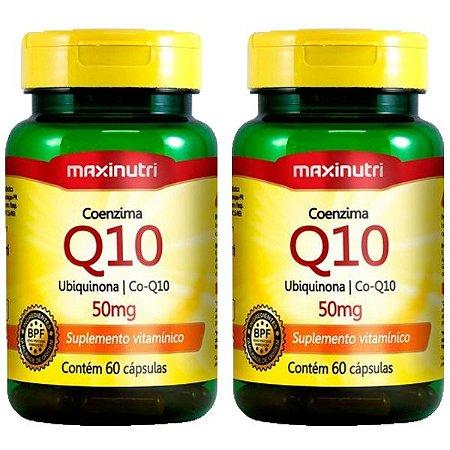 Coenzima Q10 50mg - 2 unidades de 60 cápsulas - Maxinutri