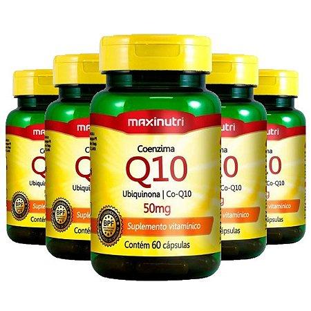 Kit Coenzima Q10 50mg Maxinutri Suplemento 300 Cápsulas