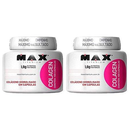 Colagen - 2 unidades de 100 Cápsulas - Max Titanium