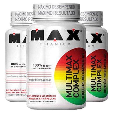 Multimax Complex - 3 unidades de 90 Cápsulas - Max Titanium