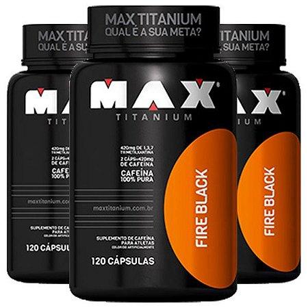 Ultimate Fire Black - 3 unidades de 120 Cápsulas - Max Titanium