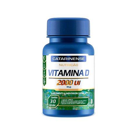 Vitamina D 2000 UI Catarinense Vitamina Do Sol 30 Cápsulas
