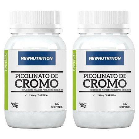Óleo de Cártamo + Cromo - 2 unidades de 120 Cápsulas - NewNutrition