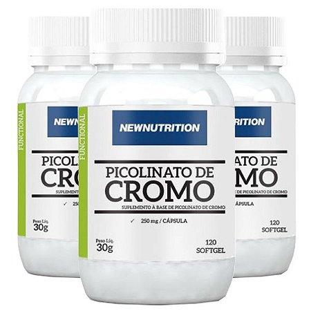 Óleo de Cártamo + Cromo - 3 unidades de 120 Cápsulas - NewNutrition