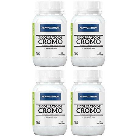Óleo de Cártamo + Cromo - 4 unidades de 120 Cápsulas - NewNutrition