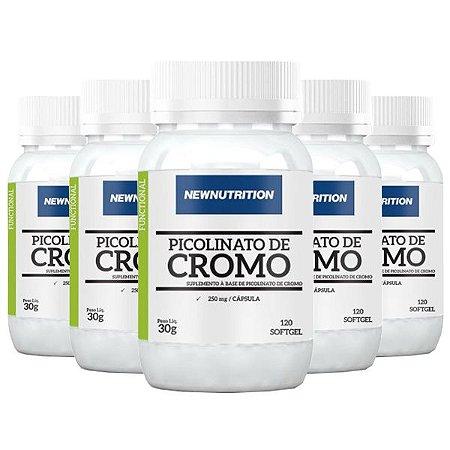 Óleo de Cártamo + Cromo - 5 unidades de 120 Cápsulas - NewNutrition