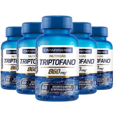 Triptofano - 5 unidades de 60 Cápsulas - Catarinense