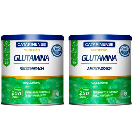 Glutamina Micronizada - 2 unidades de 250 Gramas - Catarinense