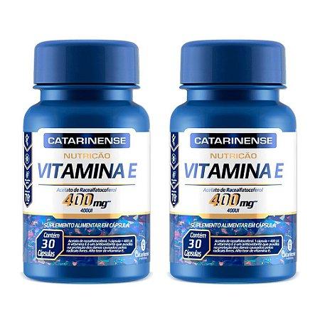 Vitamina E 400 UI - 2 unidades de 30 Cápsulas - Catarinense