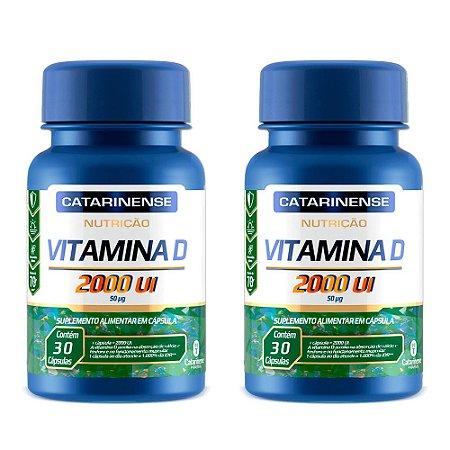 Vitamina D 2000 UI - 2 unidades de 30 Cápsulas - Catarinense