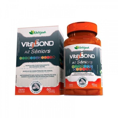 Polivitamínico Vitabond A-Z Sênior - 60 Cápsulas - Katigua