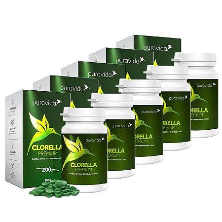 Clorella Premium - 5 unidades de 200 Tabletes - Puravida