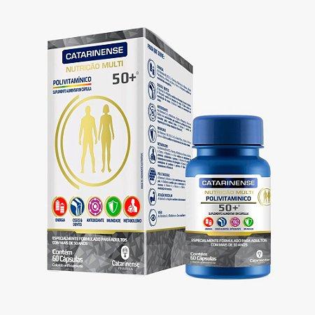 Polivitamínico A-Z 50+ Sênior - 60 Cápsulas - Catarinense