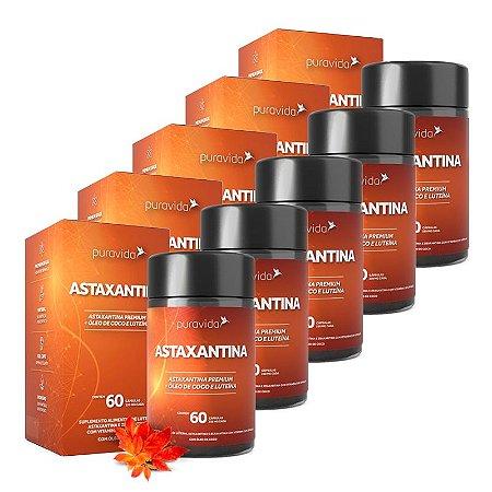 Astaxantina - 5 unidades de 60 Cápsulas - Puravida
