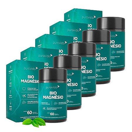 Kit Bio Magnésio Puravida Suplemento 300 Cápsulas