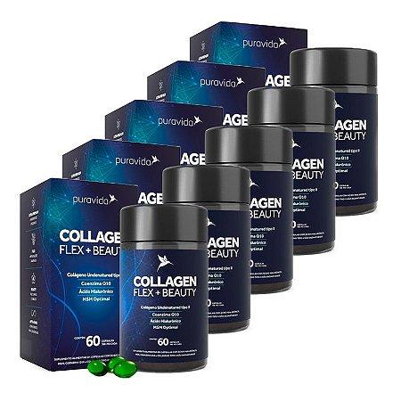 Kit Colageno Flex + Beauty Puravida Suplemento 300 Cápsulas