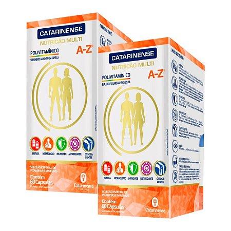 Polivitamínico A-Z - 2 unidades de 60 Cápsulas - Catarinense