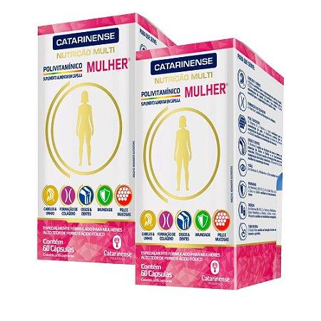 Polivitamínico A-Z Mulher - 2 unidades de 60 Cápsulas - Catarinense