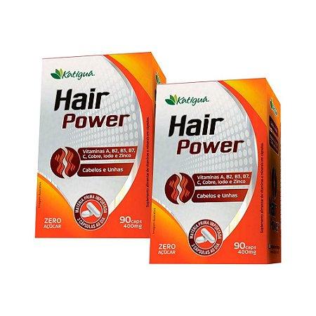 Kit Hair Power Katigua Cabelos e Unhas 180 Cápsulas