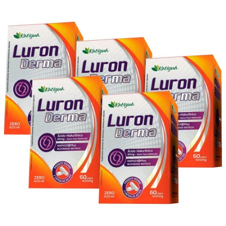 Kit Luron Derma Ácido Hialurônico BPM Katigua 300 Cápsulas